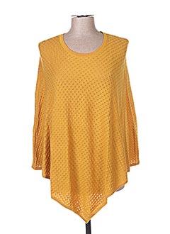 Poncho jaune BRIC-A-BRAC pour femme