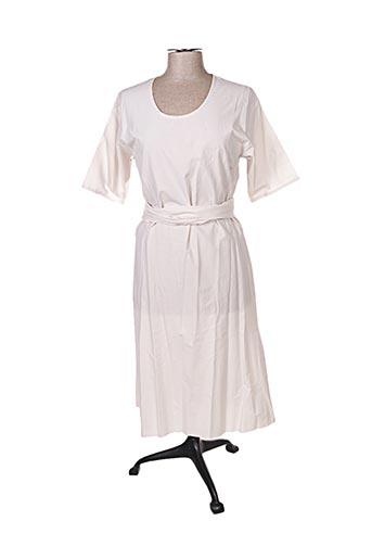 Robe mi-longue beige ELSA ESTURGIE pour femme