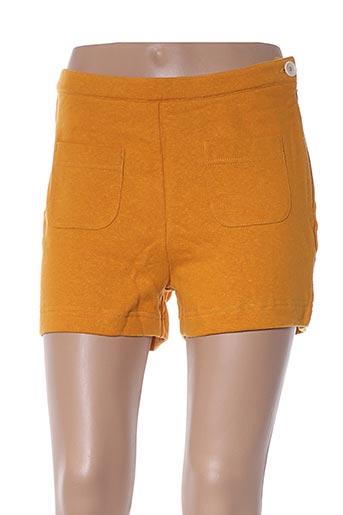 Short jaune BRIC-A-BRAC pour femme