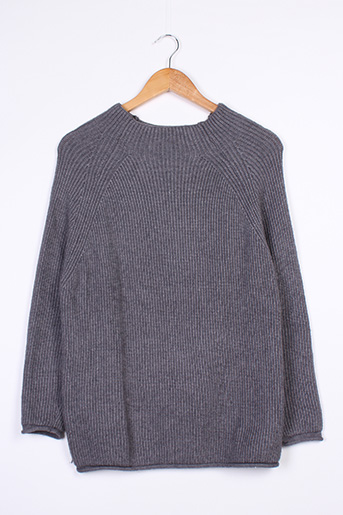Pull col rond gris BETTY LONDON pour femme