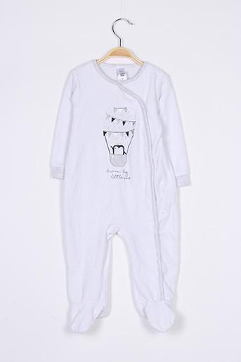 Pyjama blanc BABY CLUB pour garçon
