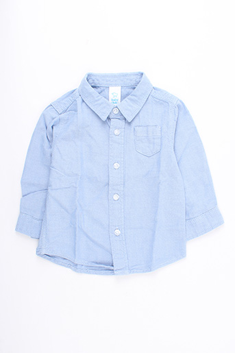 Chemise manches longues bleu BABY CLUB pour garçon