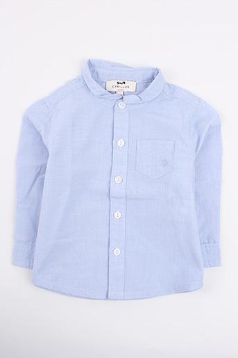 Chemise manches longues bleu CYRILLUS pour garçon
