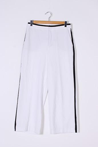 Pantalon 7/8 blanc ZARA pour femme