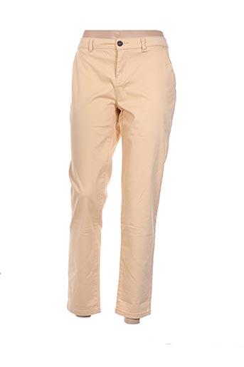 Pantalon casual jaune CLOSETTE pour femme