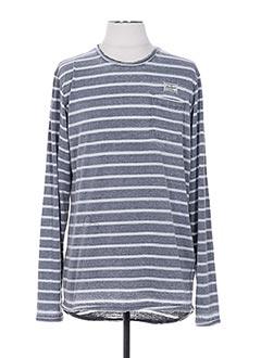 T-shirt manches longues gris DEELUXE pour homme