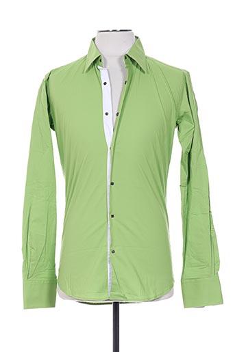 Chemise manches longues vert FREESIDE pour homme