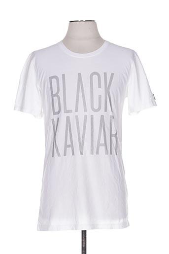 T-shirt manches courtes blanc BLACK KAVIAR pour homme