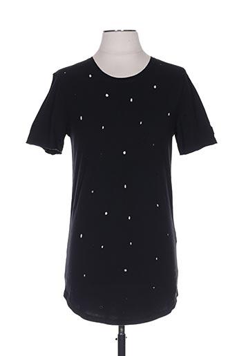 T-shirt manches courtes noir BLACK KAVIAR pour homme
