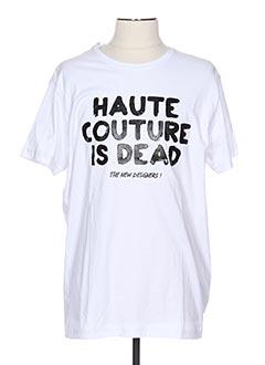 T-shirt manches courtes blanc ALEXANDER PAP pour homme