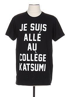 T-shirt manches courtes noir TWO ANGLE pour homme