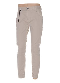 Pantalon casual beige TWO ANGLE pour homme