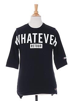 T-shirt manches courtes noir RETOUR pour garçon