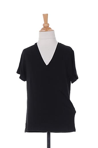 T-shirt manches courtes noir BE AND BE THOUCH DOWN pour garçon