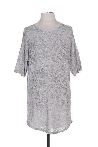T-shirt manches courtes gris BLACK KAVIAR pour femme