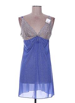 Nuisette/combinette bleu AUBADE pour femme