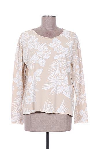 Sweat-shirt beige DEHA pour femme