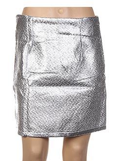 Jupe courte gris GENIRIS pour femme
