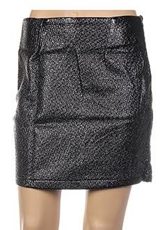 Jupe courte noir GENIRIS pour femme