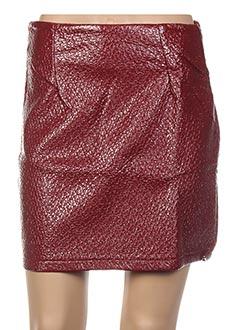 Jupe courte rouge GENIRIS pour femme