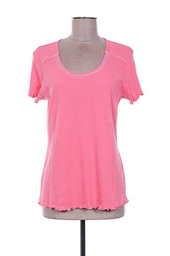 T-shirt manches courtes rose DESAIVRE pour femme