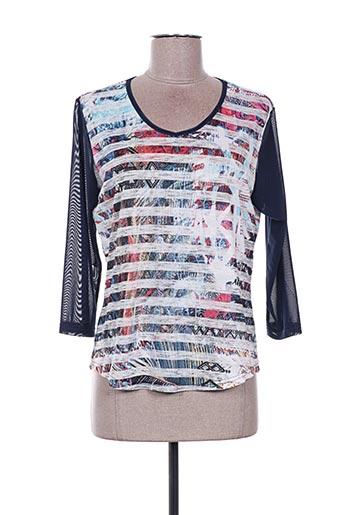 T-shirt manches longues bleu DESAIVRE pour femme