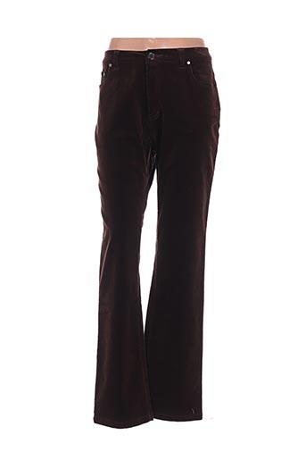 Pantalon casual marron CLAUDE DE SAIVRE pour femme