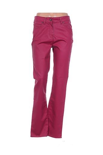 Pantalon casual rose CLAUDE DE SAIVRE pour femme