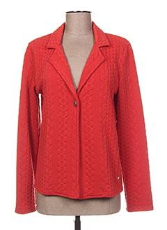 Veste chic / Blazer rouge THALASSA pour femme