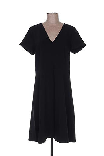 Robe mi-longue noir CULTURE pour femme
