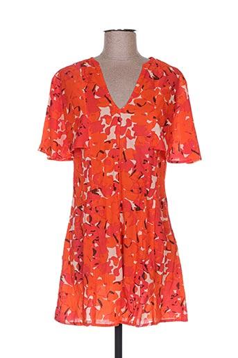 Tunique manches longues orange BLA-BLA pour femme