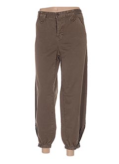 Pantalon 7/8 marron DOLCE & GABBANA pour femme