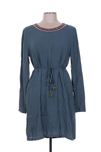 Robe mi-longue vert CARMINN pour femme
