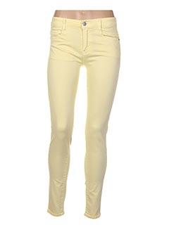 Jeans coupe slim jaune B.S JEANS pour femme