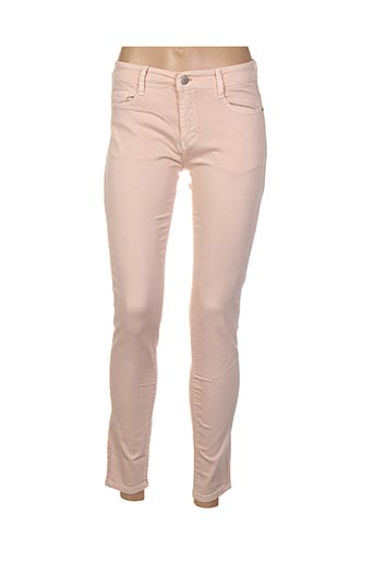 Jeans coupe slim rose B.S JEANS pour femme