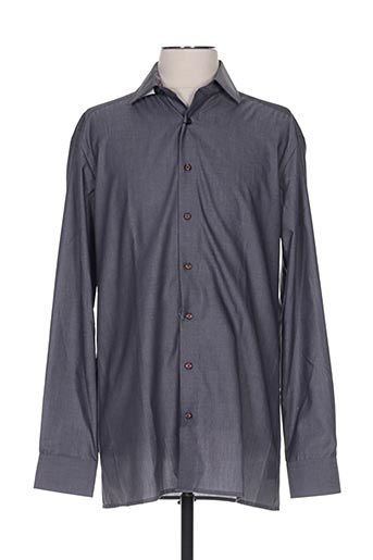 Chemise manches longues gris OLYMP pour homme