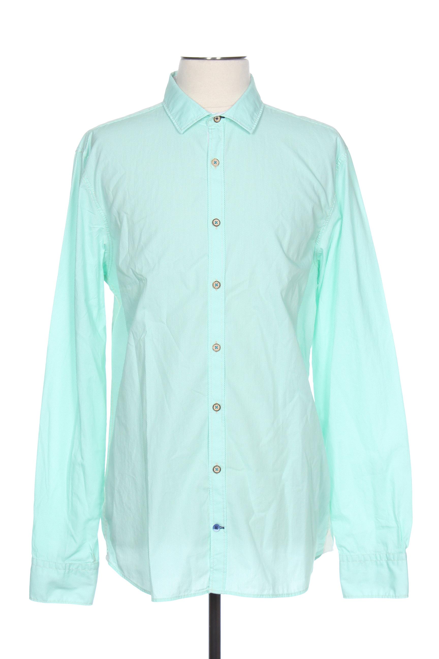 Chemise manches longues homme Colours & Sons vert taille : 3XL 25 FR (FR)