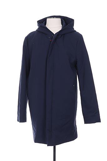 Manteau long bleu CLUB OF GENTS pour homme