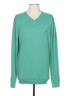 Pull col V vert COLOURS & SONS pour homme