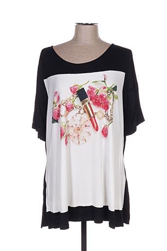 T-shirt manches courtes noir FLUIDE PARIS pour femme