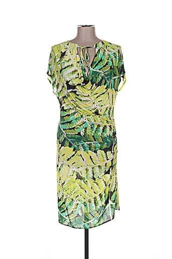 Robe mi-longue vert GUIDO LOMBARDI pour femme