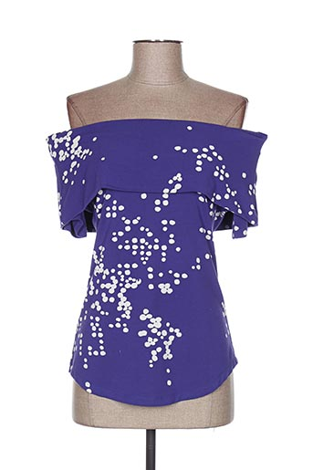 T-shirt manches courtes violet ISABEL DE PEDRO pour femme