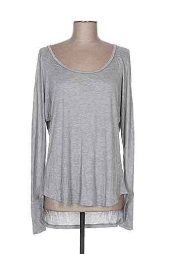 T-shirt manches longues gris AMS PURE pour femme