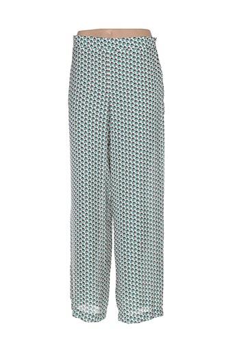 Pantalon casual vert ALESSANDRA BACCI pour femme
