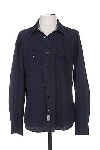 Chemise manches longues noir STONES pour homme