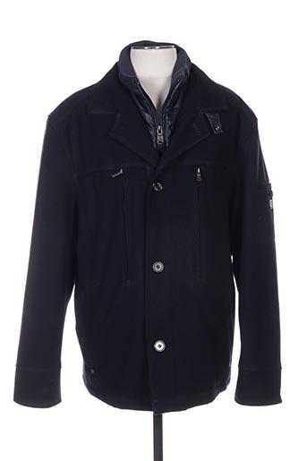 Manteau court bleu STONES pour homme