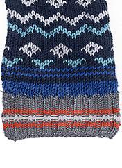 Echarpe bleu 3 POMMES pour garçon seconde vue