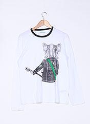T-shirt manches longues blanc ZADIG & VOLTAIRE pour garçon seconde vue