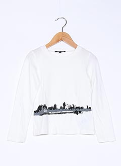 T-shirt manches longues beige DKNY pour garçon