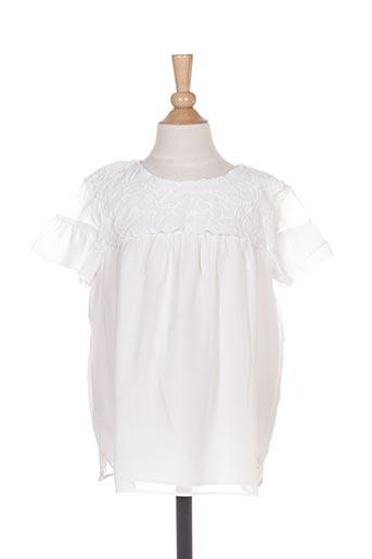 Blouse manches courtes blanc MAYORAL pour fille
